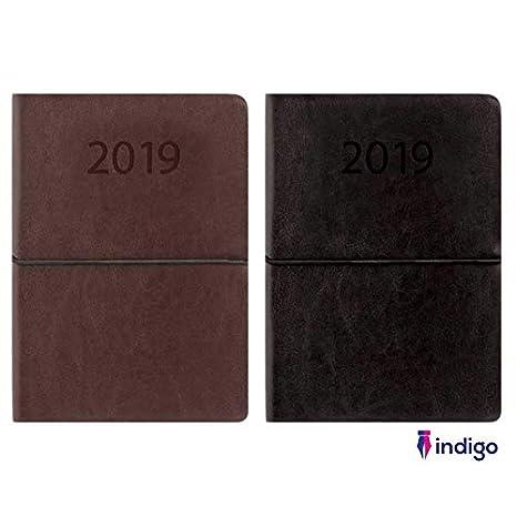 Indigo 2019 - Agenda de bolsillo (piel sintética, con correa ...