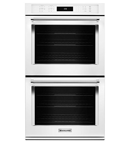 KitchenAid KODE500EWH 30 Inch Double Electric Wall Oven with 5.0 cu. ft. Primary Oven, 5.0 cu. ft. Secondary Oven, Even-Heat True Convection Cook and Dual Temperature Probes