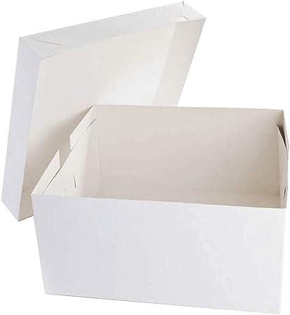 Cajas para tartas blancas – 30,5 cm cuadrados (304 mm cuadrados). Paquete de 5 unidades. blanco: Amazon.es: Hogar