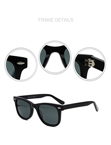 Acetate Sunglasses Eyewear Glass Noir Classic lens Great Vision 6Hg1wxSq