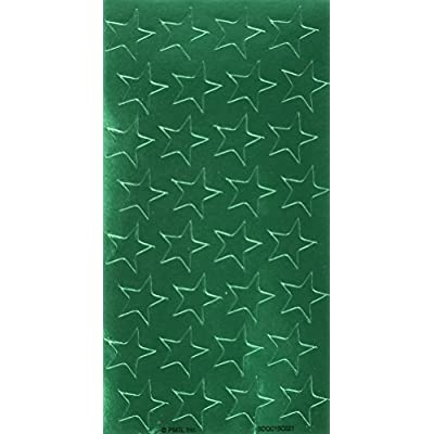 Eureka Back to School Classroom Supplies, Presto-Stick Green Star Stickers, 1/2'', 250 pcs: Office Products