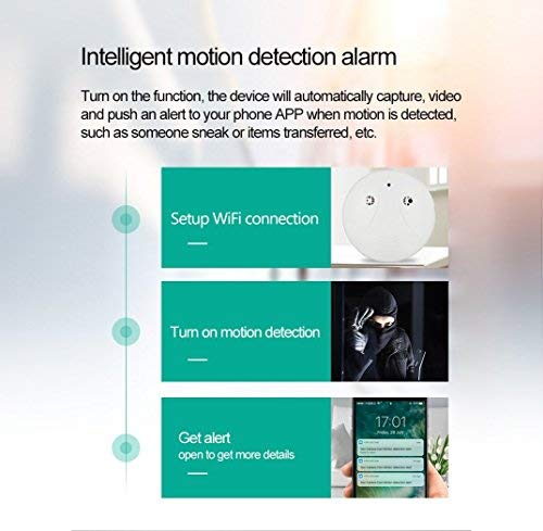 Heymoko Wi-Fi Hidden Spy Camera WiFi Smoke Detector Camera Motion Detection 1080P Wireless IP Indoor Baby Pet Monitor Remote Free App View Nanny Cam Home Security Camera