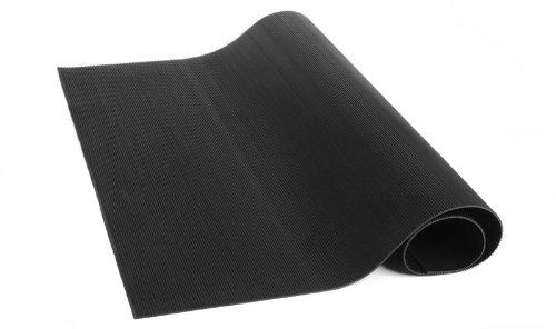 Herco 2' x 2' All Purpose Corrugated Rubber Mat - Black