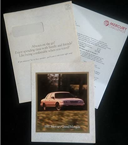 amazon com 1997 mercury grand marquis vintage color sales brochure