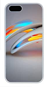 3D abstract design iphone 4s cases PC White for Apple iPhone 4s