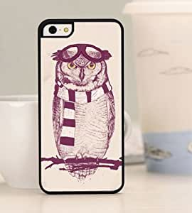 FS New Fashion Design Hard Skin Case Cover Shell for Mobile Phone Iphone5C black plastic case/ cut night owl on the branch