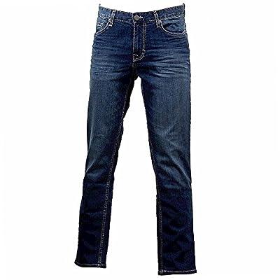 Calvin Klein Men's Five-Pocket Relaxed Authentic Blue Indigo Slim Straight Jeans