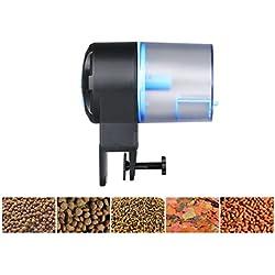 UEETEK Automatic Fish Feeder Adjustable Feeding Amount Fish Food Feeder Aquarium Tank Auto Fish Food Timer Dispenser