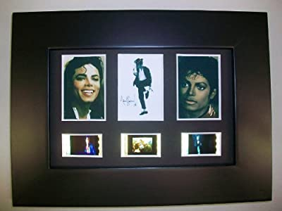 MICHAEL JACKSON Framed Trio 3 Film Cell Display Collectible Movie Memorabilia