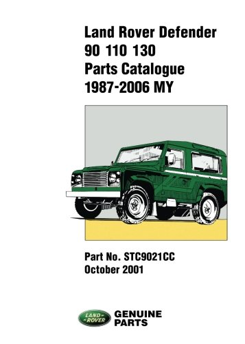 Land Rover Defender Parts Catalogue 90/110/130, 1987-2006
