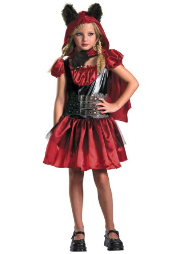 Little Red Riding Hood And Wolf Halloween Costumes (Disguise D/Ceptions 2 Lil' Red Riding Rage Classic Girls Costume, 7-8)