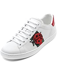 Gucci Women's Pineapple and Ladybug Patch Detail Low Top Sneakers