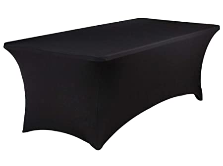25b4df662303c BTSKY 8FT Rectangular Stretch Tablecloth -- Spandex Table Cover for 6 Foot  Tables Wedding