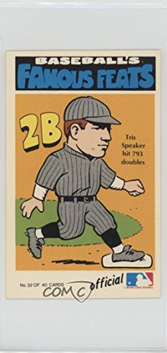 Amazoncom Tris Speaker Baseball Card 1973 Fleer Real