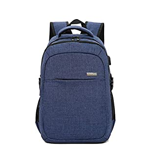 Tourists school backpack Durable Men Laptop Backpack Ladies Backpack Casual Breathable travel backpack waterproof leisure backpack large olltonfarbe with USB Blue (B07MRD5F8K) | Amazon price tracker / tracking, Amazon price history charts, Amazon price watches, Amazon price drop alerts