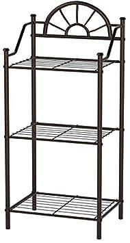 Sunburst 3-Shelf Telephone Stand Black