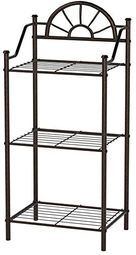 (Sunburst 3-Shelf Telephone Stand Black)