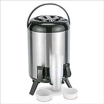 Relaxdays Dispensador de bebidas Bebidas frías y calientes Dos grifos 9 litros: Amazon.es: Hogar