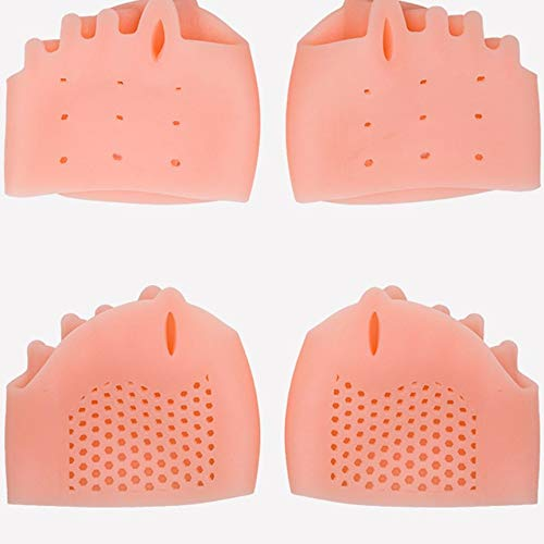 Silicone Toe Separator Foot Braces Support Little Toe Varus Corretcor for Overlapping Toe Foot Care for Men Women