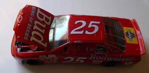 1995 Racing Champions Adult Collectible - 1/18 Scale Diecast Replica Racecar - No. 25 Ken Schrader - Budweiser Chevrolet Monte Carlo - NASCAR