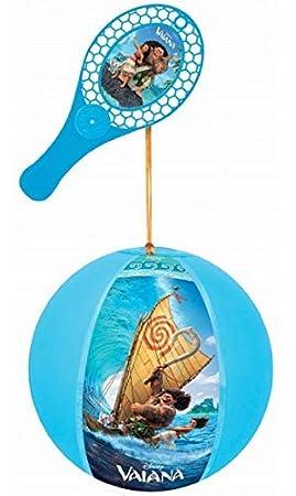 abrakado.nath Vaiana - Balón de Juguete (20 cm) + Raqueta ...