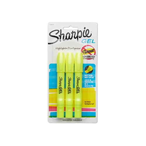 Sharpie Gel - Highlighter - fluorescent yellow - gel ink - pack of 3