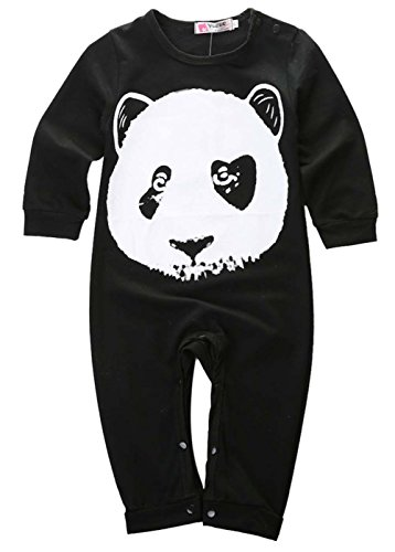 [2015 Autumn Baby Boy Girl Clothes Carters Original Long Sleeve One-piece Baby Romper (6-12 Months)] (Panda Outfits For Babies)