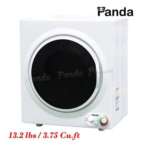 Panda Portable Compact Stainless Steel Tumble Dryer Apartment Size 110v 13lbs/3.75 Cu.ft. PAN760SF