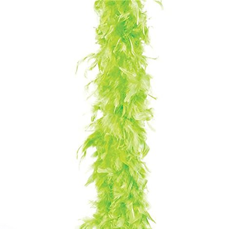 Forum Novelties Neon Green Turkey Feather Boa 55GM 6 ft 72