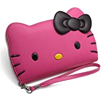 Galaxy Note 8 , Hello Kitty 3D Wallet Case Samsung Galaxy Note 8 with Camera hole , Screen Protector , (Hot Pink)