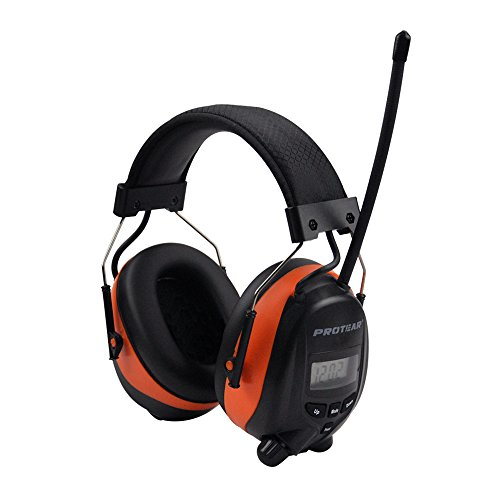 Bluetooth & Radio AM/FM Hearing Protection Ear Protector - Wireless Noise Reduction Safety Earmuffs - NRR 25dB Headphones for Working Mowing Construction