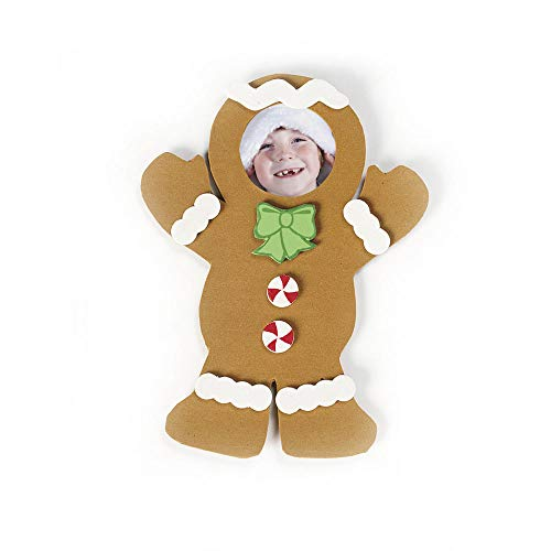 Foam Gingerbread Picture Frame Magnet Craft Kit-Makes 12]()
