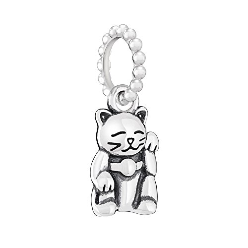Chamilia Women's Petite Cat Bead Charm - Light Ox, Silver, One Size