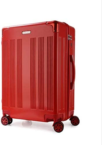 Color : Red, Size : XL Tjtz High-end PC Drawing Rod Luggage Suitcase Universal Wheel Suitcase 20 inch 22 inch 24 inch 26 inch