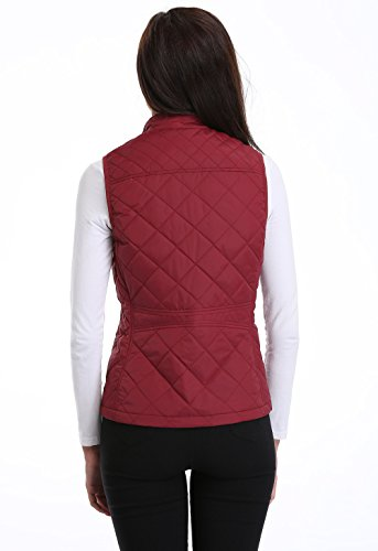 MISS MOLY Women's Zip up Stand Collar Lightweight Quilted Gilets Packable Padded Vest w 2 Side Zip Pockets S by MISS MOLY (Image #4)