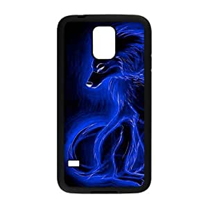 DDOUGS Fire Wolf Customised Cell Phone Case for SamSung Galaxy S5 I9600, Wholesale Fire Wolf Case