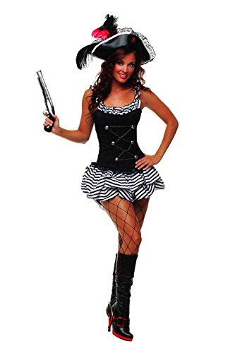 Starline Women's Fiery Pirate Sexy Corset Costume Dress Set