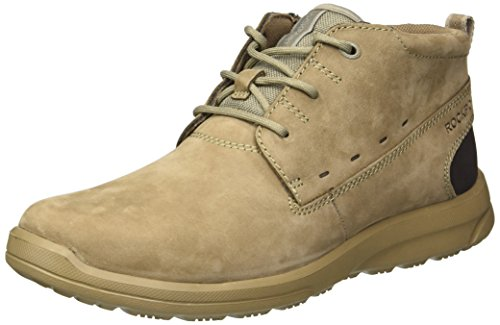 Rockport Men's Rydley Chukka Boot, taupe nubuck, 10.5 M US