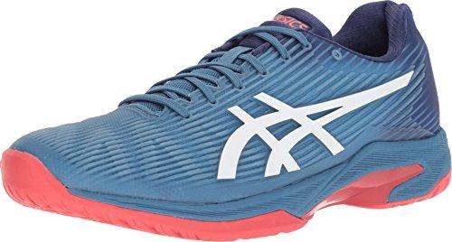 Asics Tennis - ASICS Mens Solution Speed FF Tennis Shoe, Azure/White, Size 9