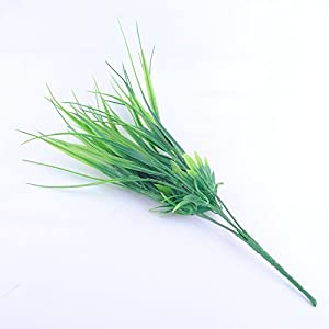 FYYDNZA 40Cm New Green Grass Artificial Plants For Plastic Flowers For Office Hotel/Wedding Home Dining Decoration 2