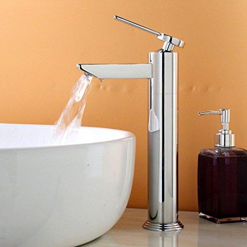 AQiMM Wasserhahn Waschtisch Waschbecken Armatur  Wasserbecken Mit Kaltem Wasser Mixer Einhebelsteuerung Messing Einzelne Bohrung  Waschtischarmatur Waschbeckenarmatur Badarmatur Für Badezimmer