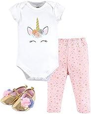 Little Treasure Unisex-Baby Cotton Bodysuit, Pant and Shoe Set