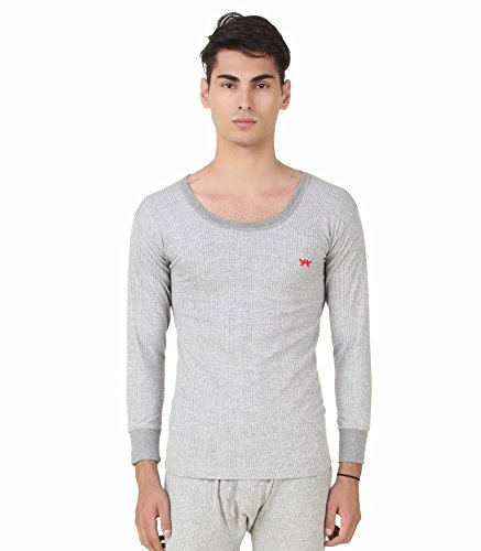HAP Kings Men Quilted Thermal : Round Neck Top  Light Grey /Body Warmer/Inners