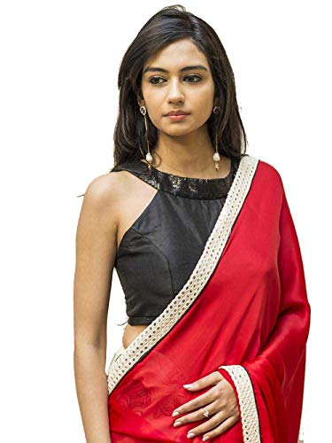 Women's Party Wear Readymade Bollywood Designer Indian Style Padded Blouse for Saree Crop Top Choli ()
