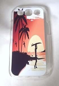 SUNSET SURF Samsung Galaxy S3 Case (CLEAR) Kimberly Kurzendoerfer