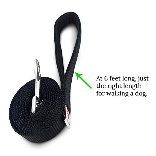 Pets-Lovers-Club-Heavy-Duty-Dog-Leash-Padded-Handle-for-Walks-Very-Durable-Leashes-for-Training-Large-Medium-Small-Dogs-Excellent-6-Foot-Length-to-Hold-On-Puppy-That-Pulls