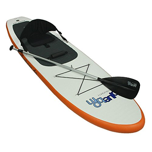 Blueborn Stand-Up Paddle Board Traveller 10-6 Double Chamber SUP, Weiss/ Orange, 520668
