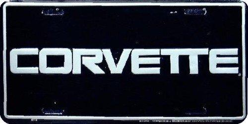 Corvette Logo License Plate