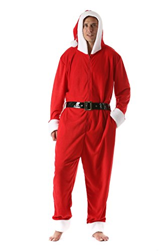 6449-L  FollowMe Men's Adult Onesie   Mens Pajamas Santa Large -