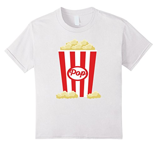 [Kids Popcorn - Funny Last Minute Halloween Costume T-Shirt 10 White] (Top 10 Last Minute Halloween Costume Ideas)